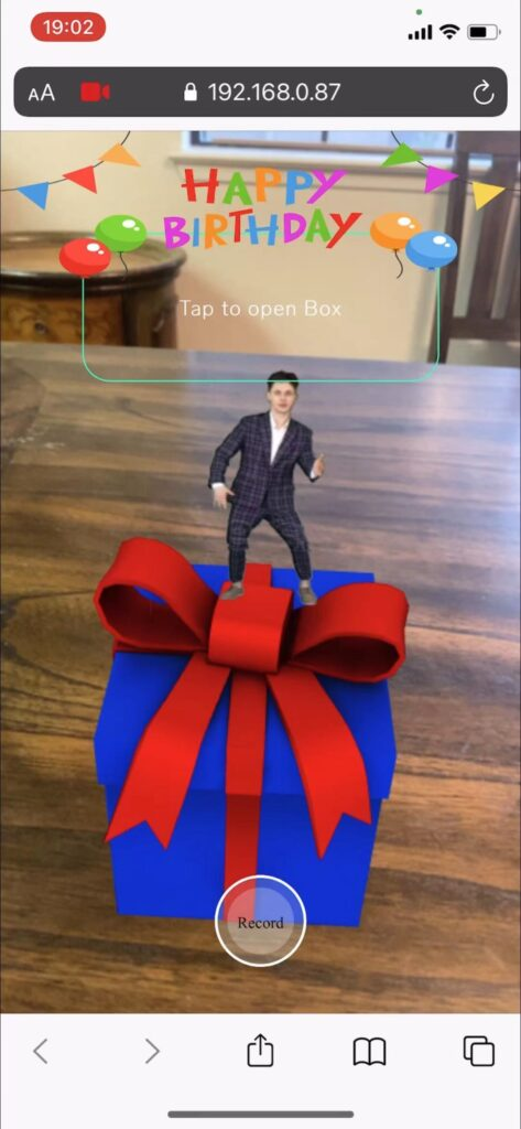 WebAR - Agumented Reality for birthday