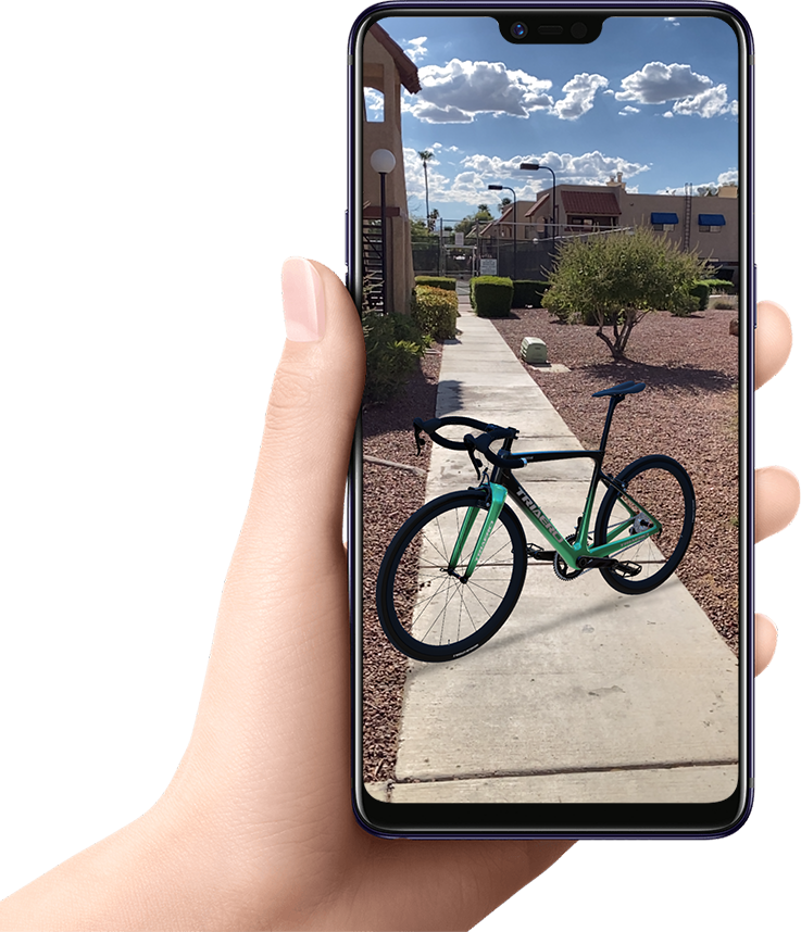 WebAR - Agumented Reality for bikes